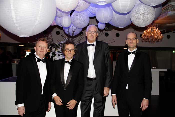 Gart Kostermans (kandidaat), John Hermarij (Dhirata), Fred Welmers (kandidaat) en Rick Suurmond (Kandidaat)